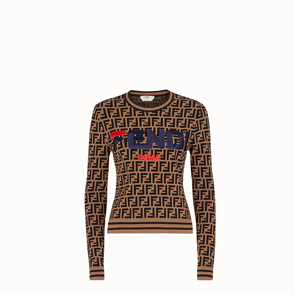 FENDI PULLOVER - Multicolor fabric sweater - view 1 small thumbnail
