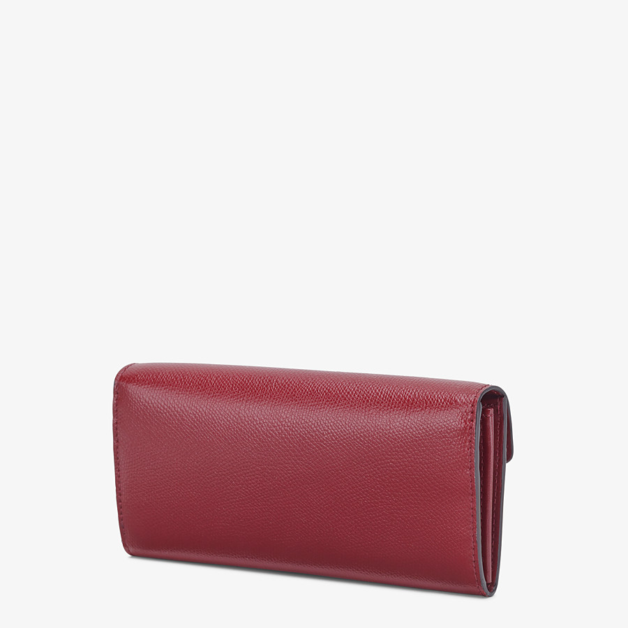 FENDI CONTINENTAL - Burgundy leather wallet - view 2 detail
