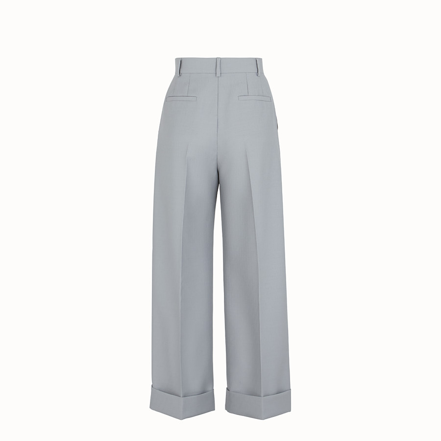 FENDI TROUSERS - Grey wool trousers - view 2 detail