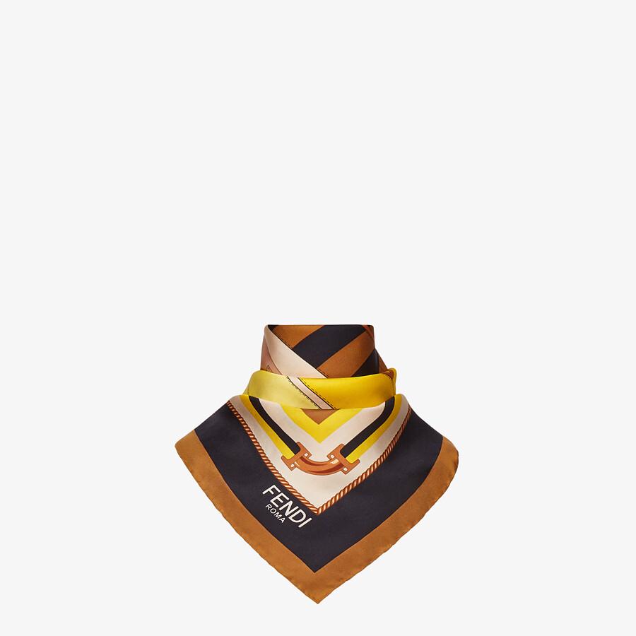 FENDI FENDI FOULARD - Multicolor silk foulard - view 2 detail
