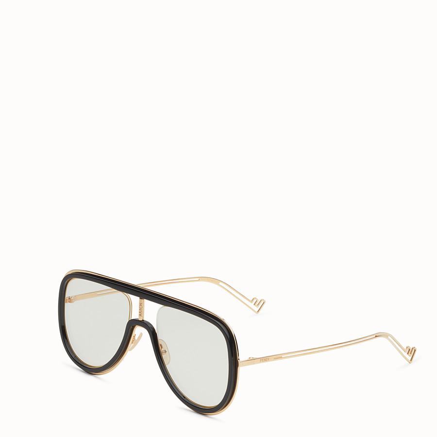 FENDI FUTURISTIC FENDI - Gold and black sunglasses - view 2 detail