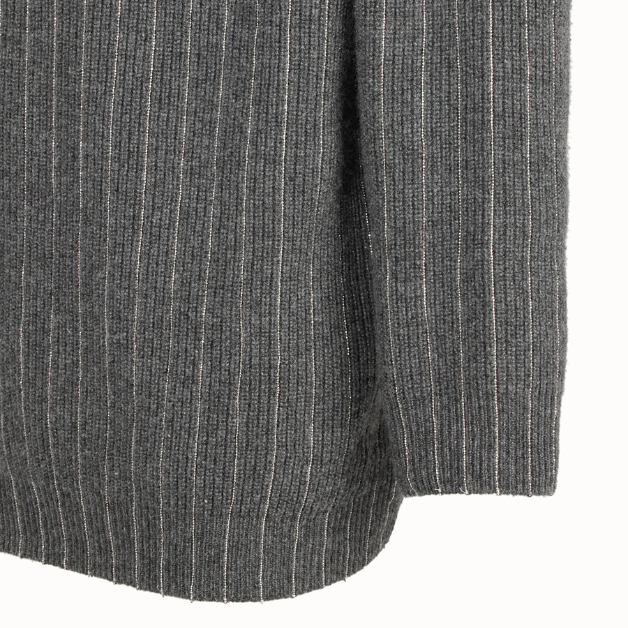 FENDI PULLOVER - Gray cashmere sweater - view 3 detail