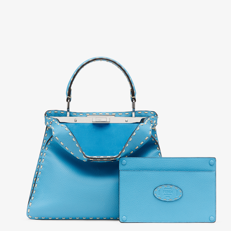 FENDI PEEKABOO ISEEU MEDIUM - Blue full grain leather bag - view 3 detail