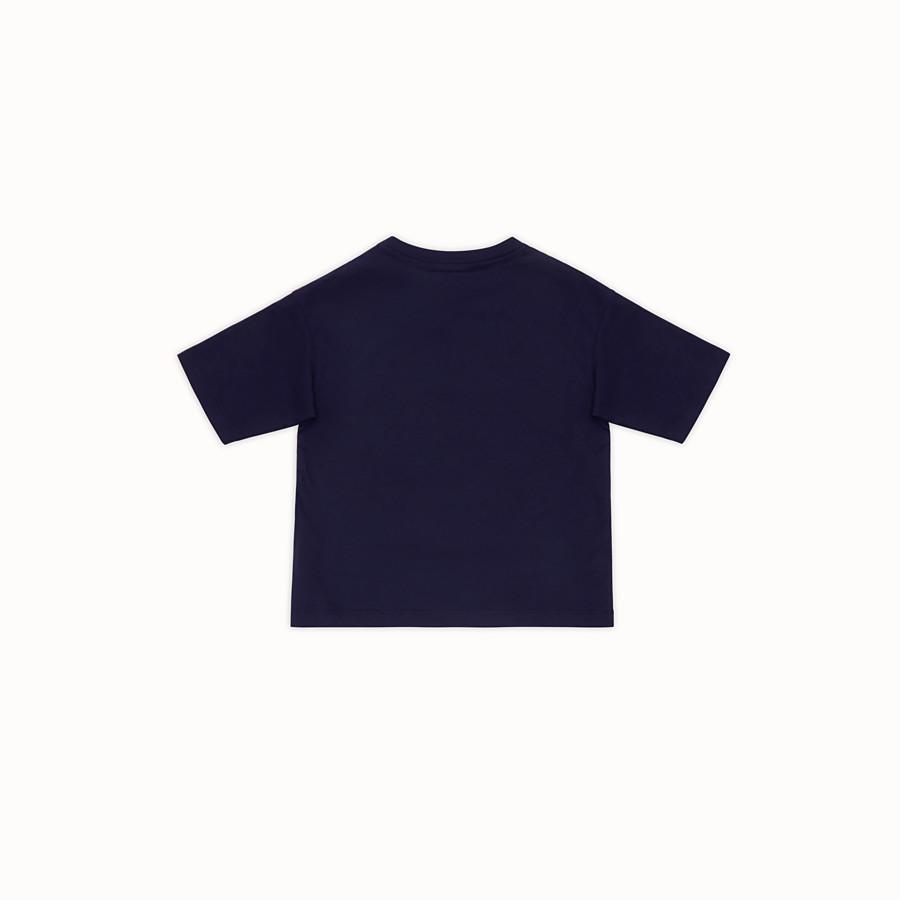 FENDI T-SHIRT - T-Shirt aus Baumwolle in Blau - view 2 detail