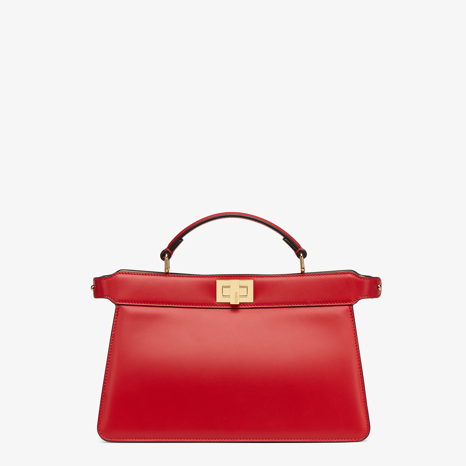 FENDI PEEKABOO ISEEU EAST-WEST - Red leather bag - view 1 detail
