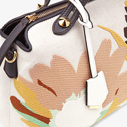 FENDI BY THE WAY MEDIUM - Beige canvas Boston bag - view 5 thumbnail