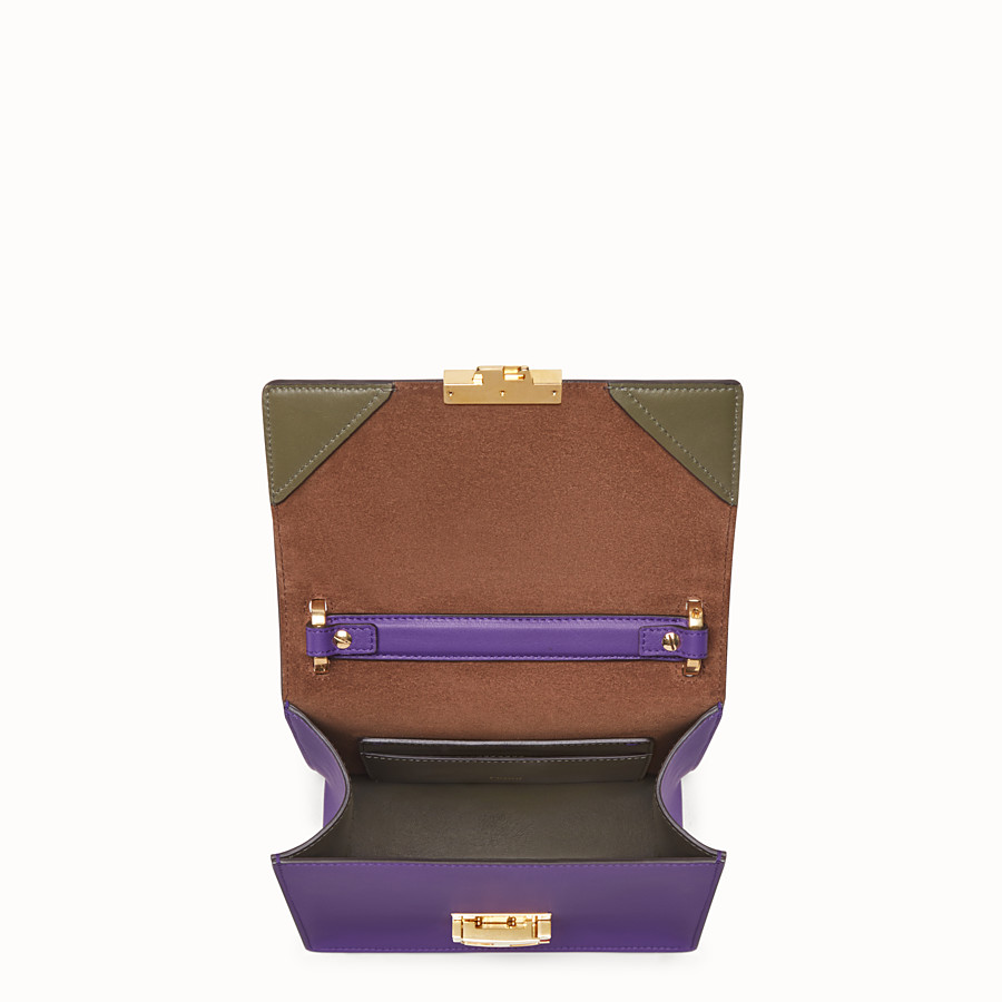 FENDI KAN U SMALL - Purple leather mini-bag - view 5 detail