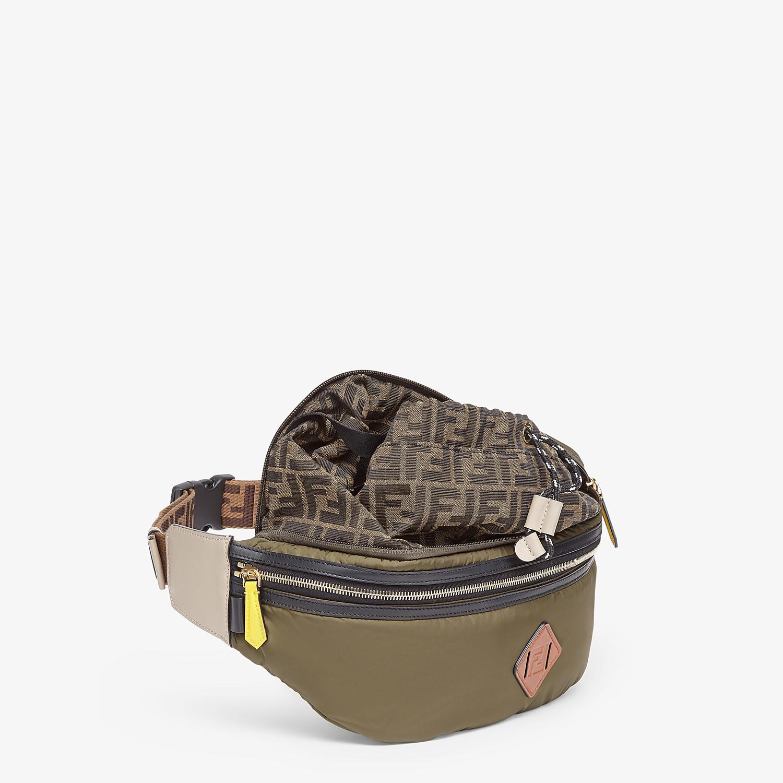 FENDI BACKPACK - Green nylon backpack - view 5 detail