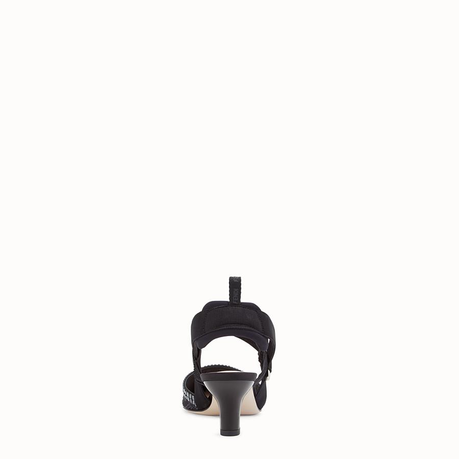 FENDI SLINGBACK - Colibrì in rete e pelle nera - vista 3 dettaglio
