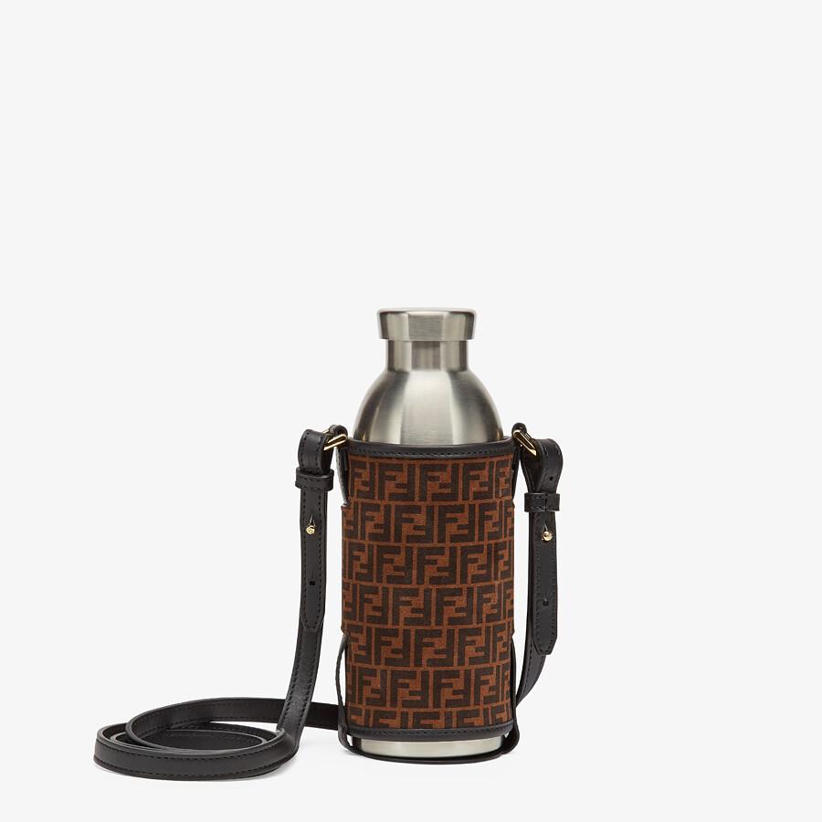 FENDI BOTTLE HOLDER - Brown leather flask holder - view 1 detail