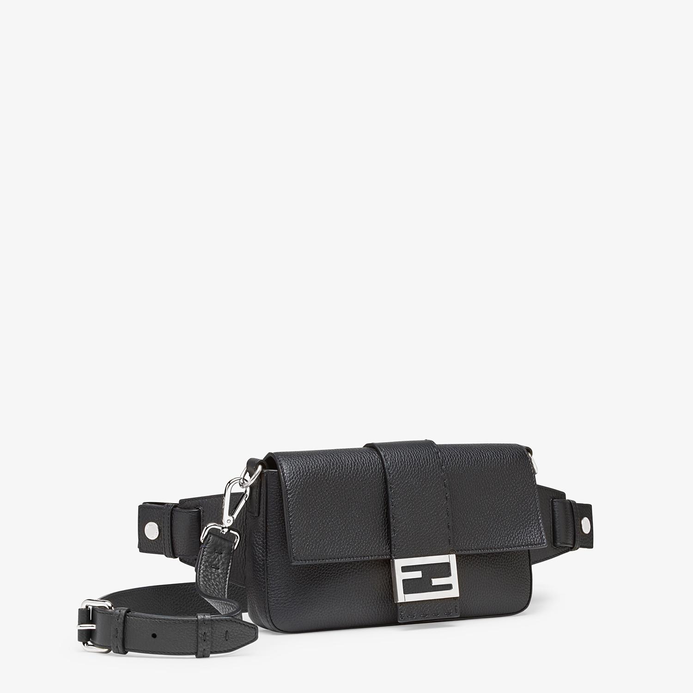 FENDI BAGUETTE - Black calfskin bag - view 2 detail