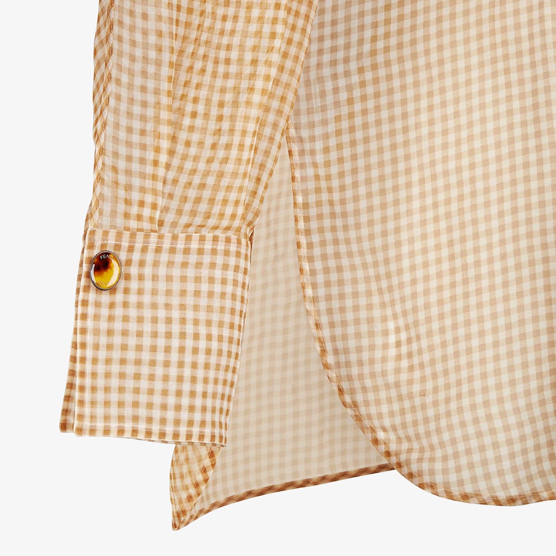 FENDI SHIRT - Check organza blouse - view 3 detail