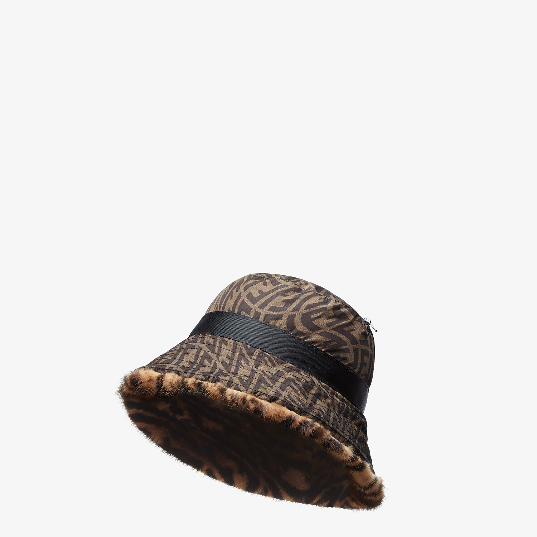 FENDI HAT - Brown mink hat - view 3 detail