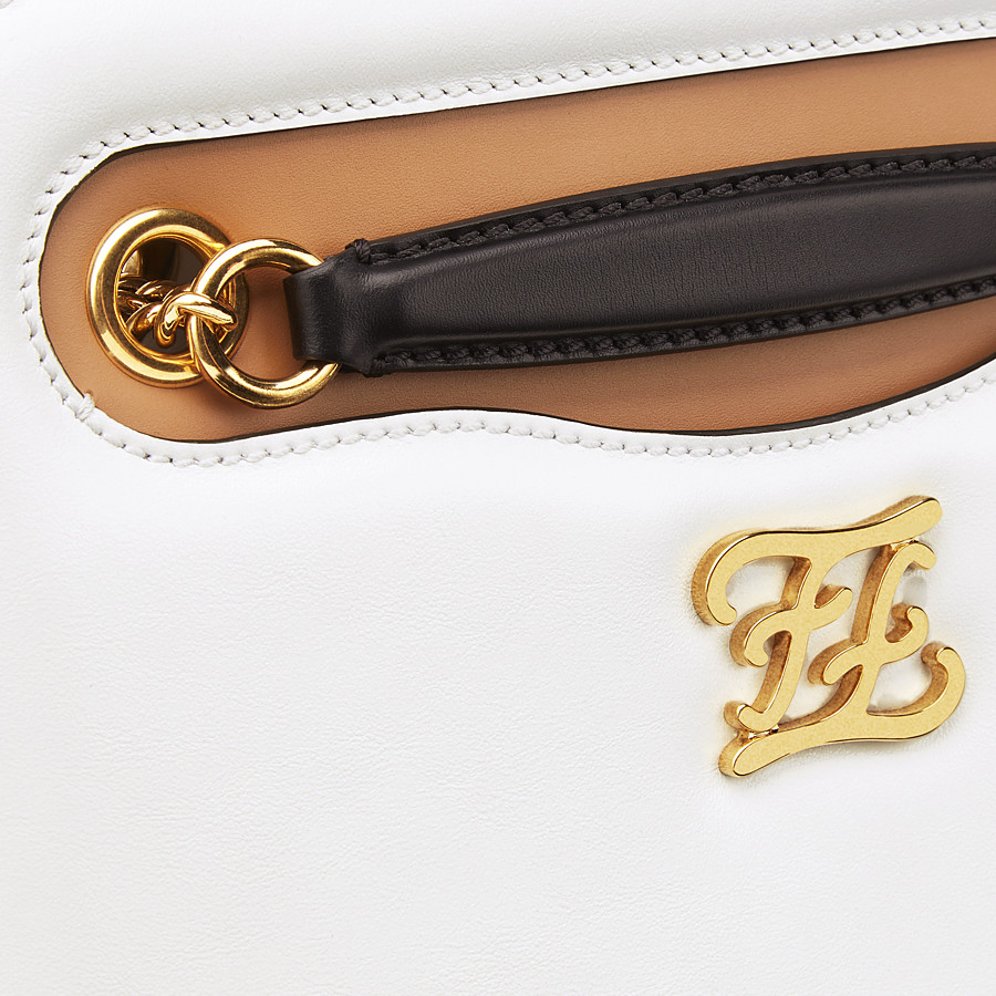 FENDI KARLIGRAPHY POCKET - White leather bag - view 6 detail