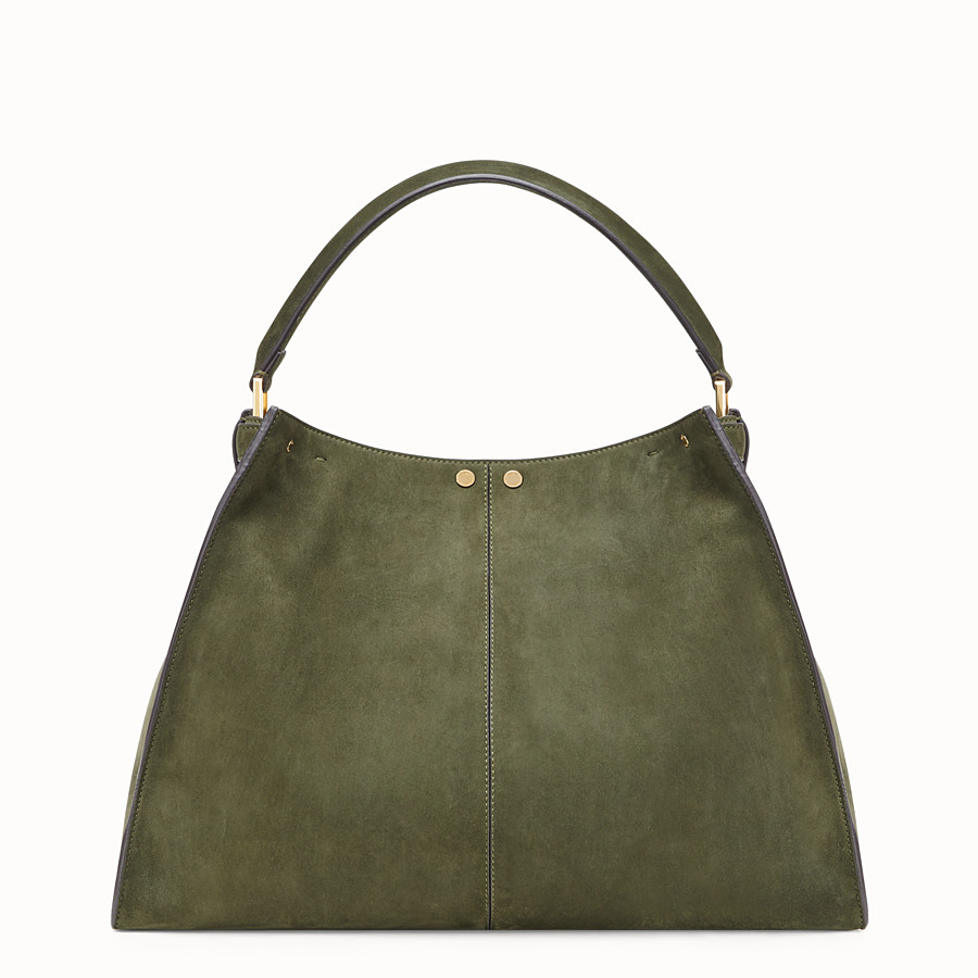 FENDI PEEKABOO X-LITE - Green suede bag - view 4 detail