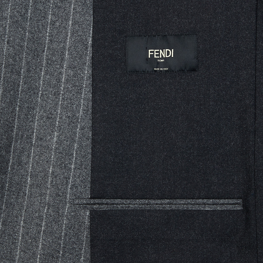 FENDI JACKET - Multicolor silk and wool blazer - view 5 detail