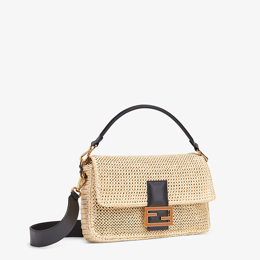 FENDI BAGUETTE LARGE - Natural straw bag - view 3 detail