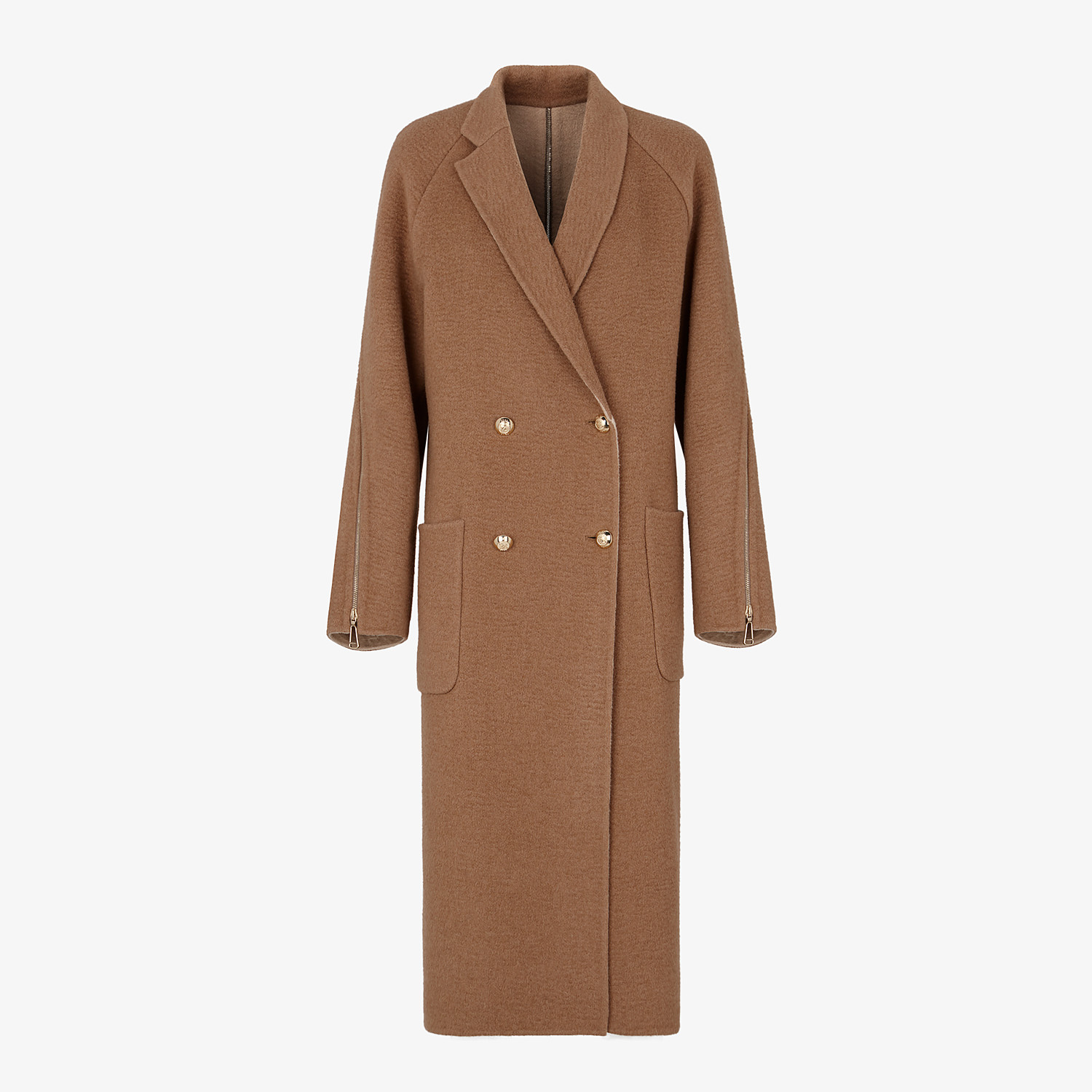 FENDI COAT - Beige camel coat - view 1 detail
