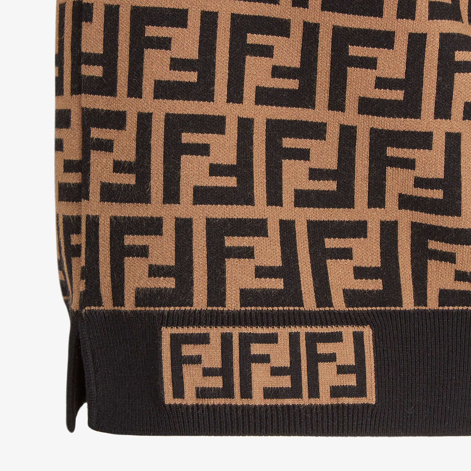 FENDI PULLOVER - Fabric FF motif jumper - view 3 detail