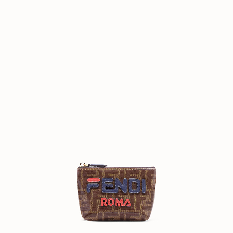 FENDI POUCH - Brown fabric toiletry case - view 1 detail