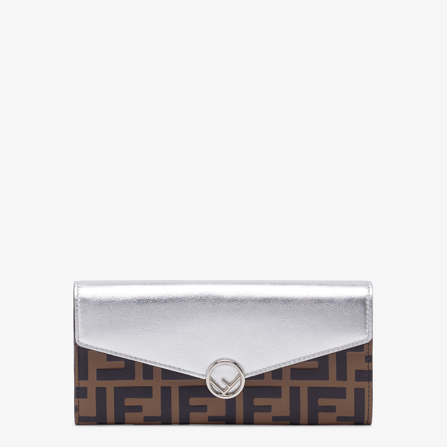 FENDI CONTINENTAL - Silver leather wallet - view 1 detail
