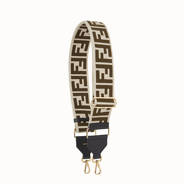 FENDI STRAP YOU - Beige canvas shoulder strap - view 1 small thumbnail