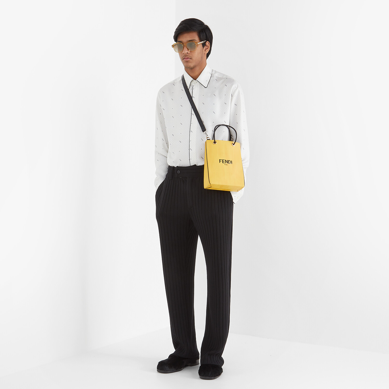 FENDI FENDI PACK SMALL SHOPPING BAG - Yellow leather bag - view 6 detail