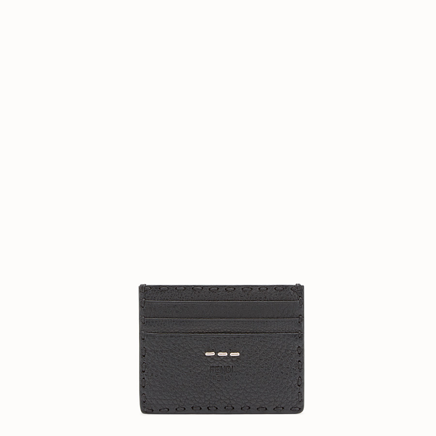 FENDI CARD HOLDER - Selleria 6-slot card holder in black - view 1 detail