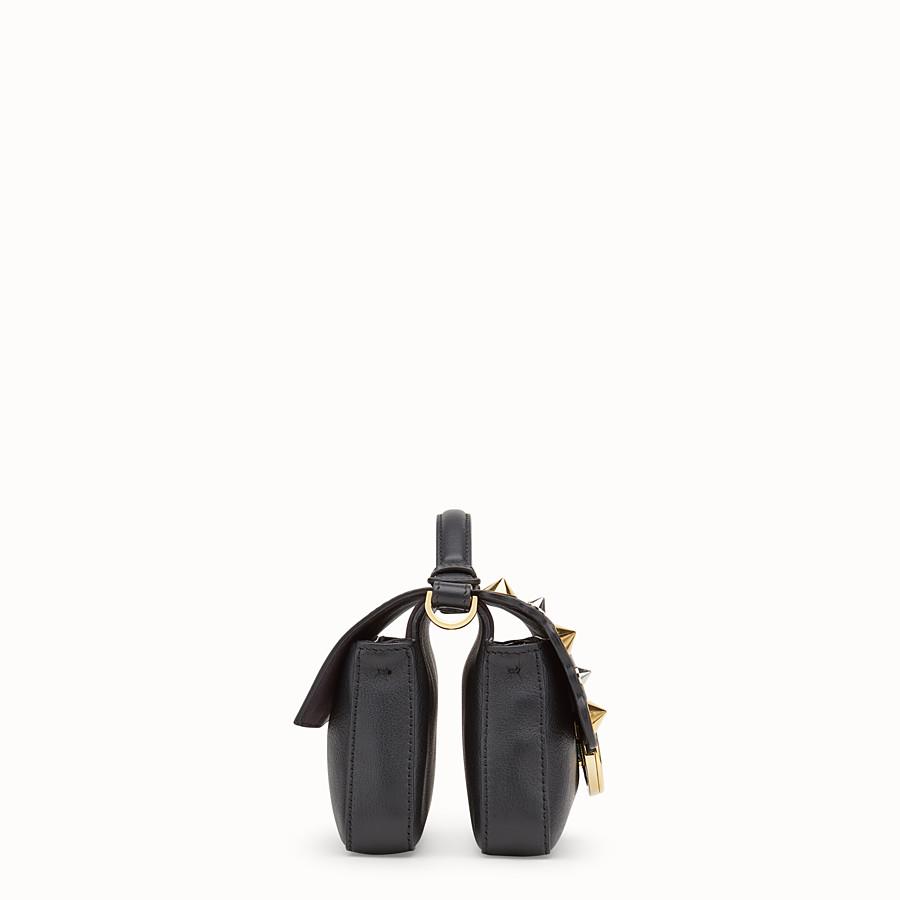 FENDI 雙面微型款式BAGUETTE - 黑色皮革迷你手袋 - view 2 detail