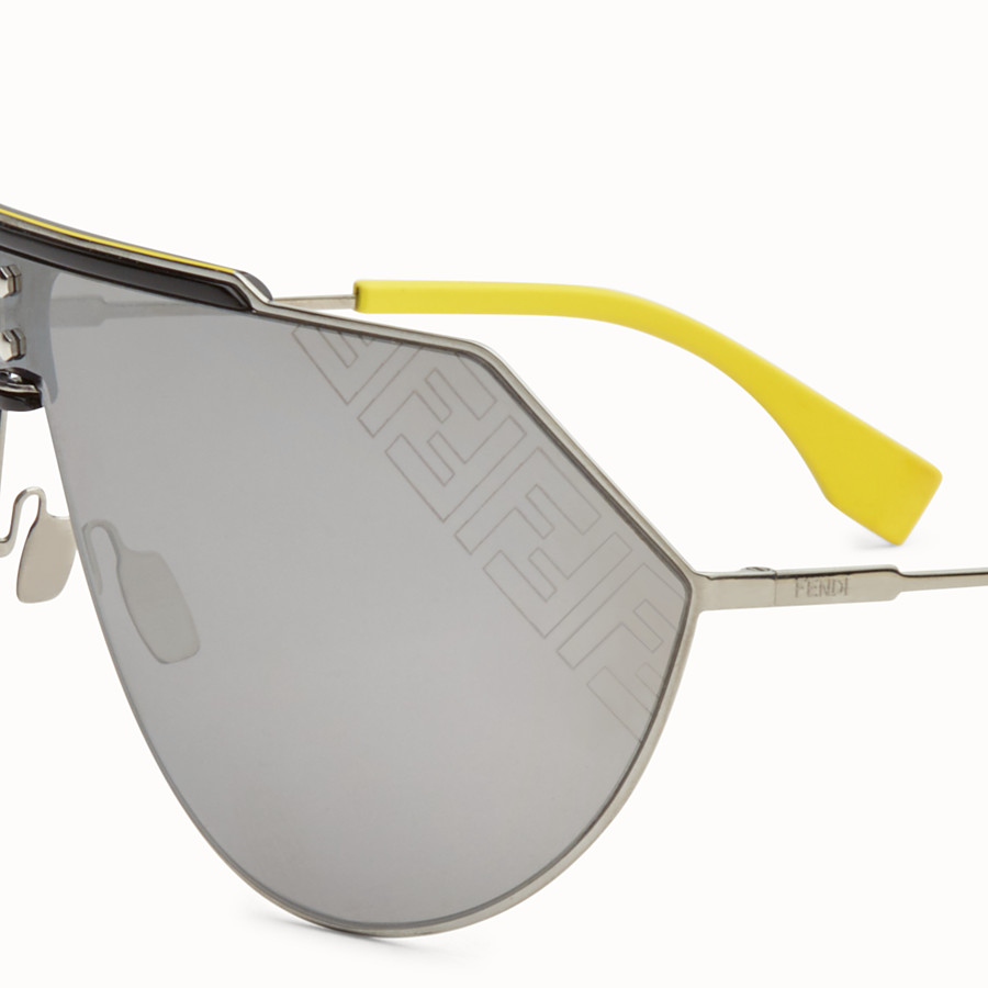 FENDI EYELINE 2.0 - Yellow and ruthenium sunglasses - view 3 detail