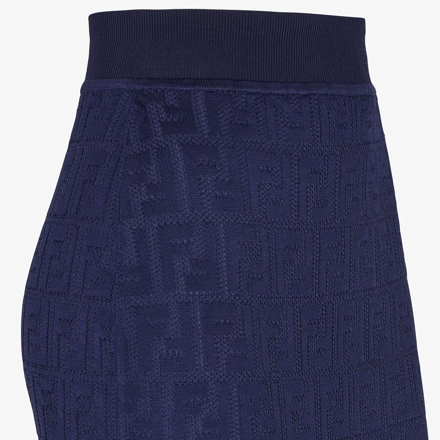 FENDI SKIRT - Blue cotton and viscose skirt - view 3 detail