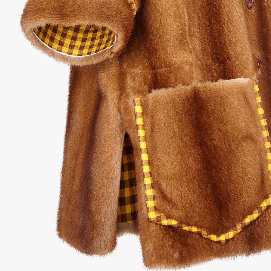 FENDI SHIRT - Check mink and Lycra® shirt - view 3 detail