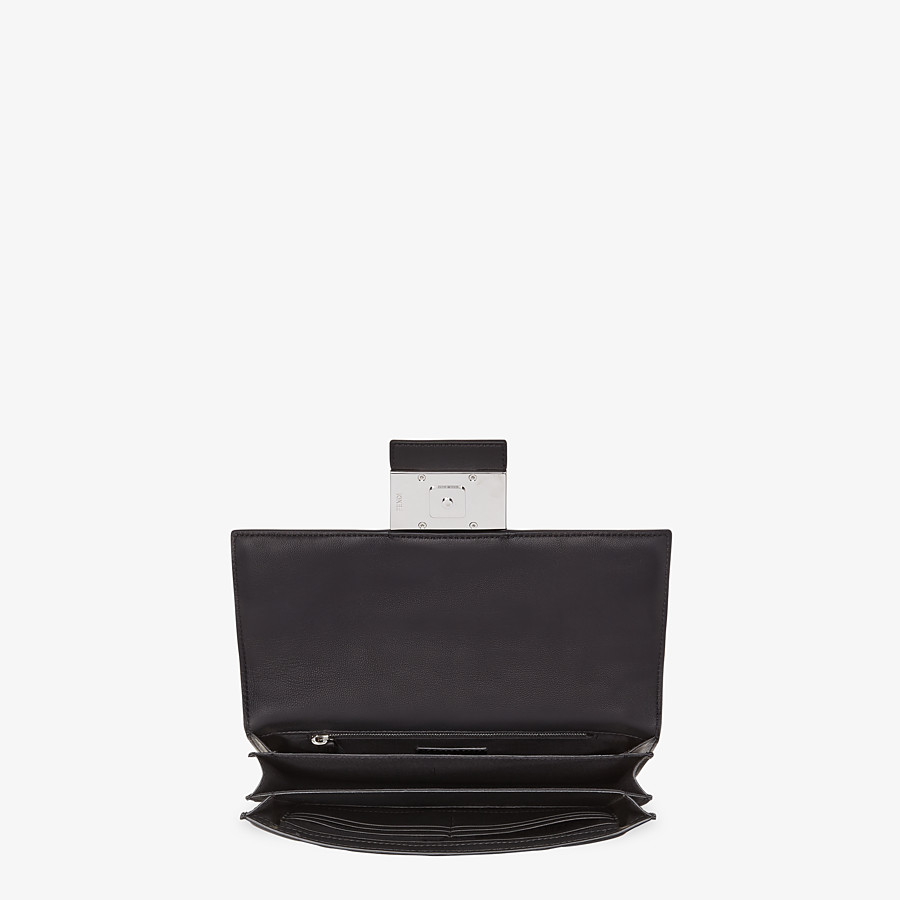 FENDI STANDING CLUTCH - Black nappa leather clutch - view 3 detail