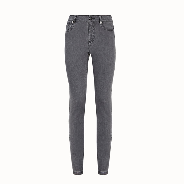 FENDI TROUSERS - Grey denim trousers - view 1 small thumbnail