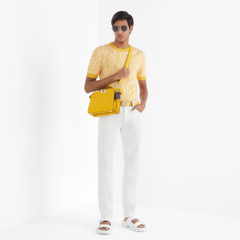 FENDI PEEKABOO ISEEU MINI - Yellow nappa leather bag - view 7 detail