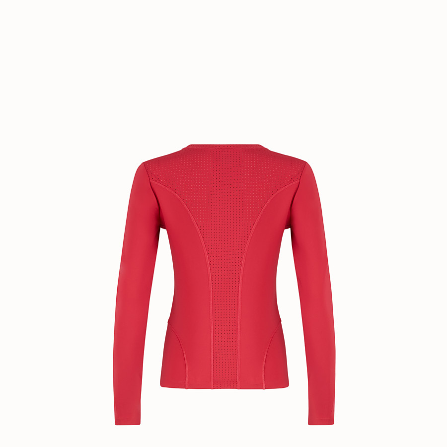 FENDI TOP - Red tech fabric top - view 2 detail
