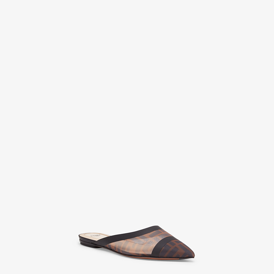 FENDI SLINGBACK - Sabots en filet marron - view 2 detail