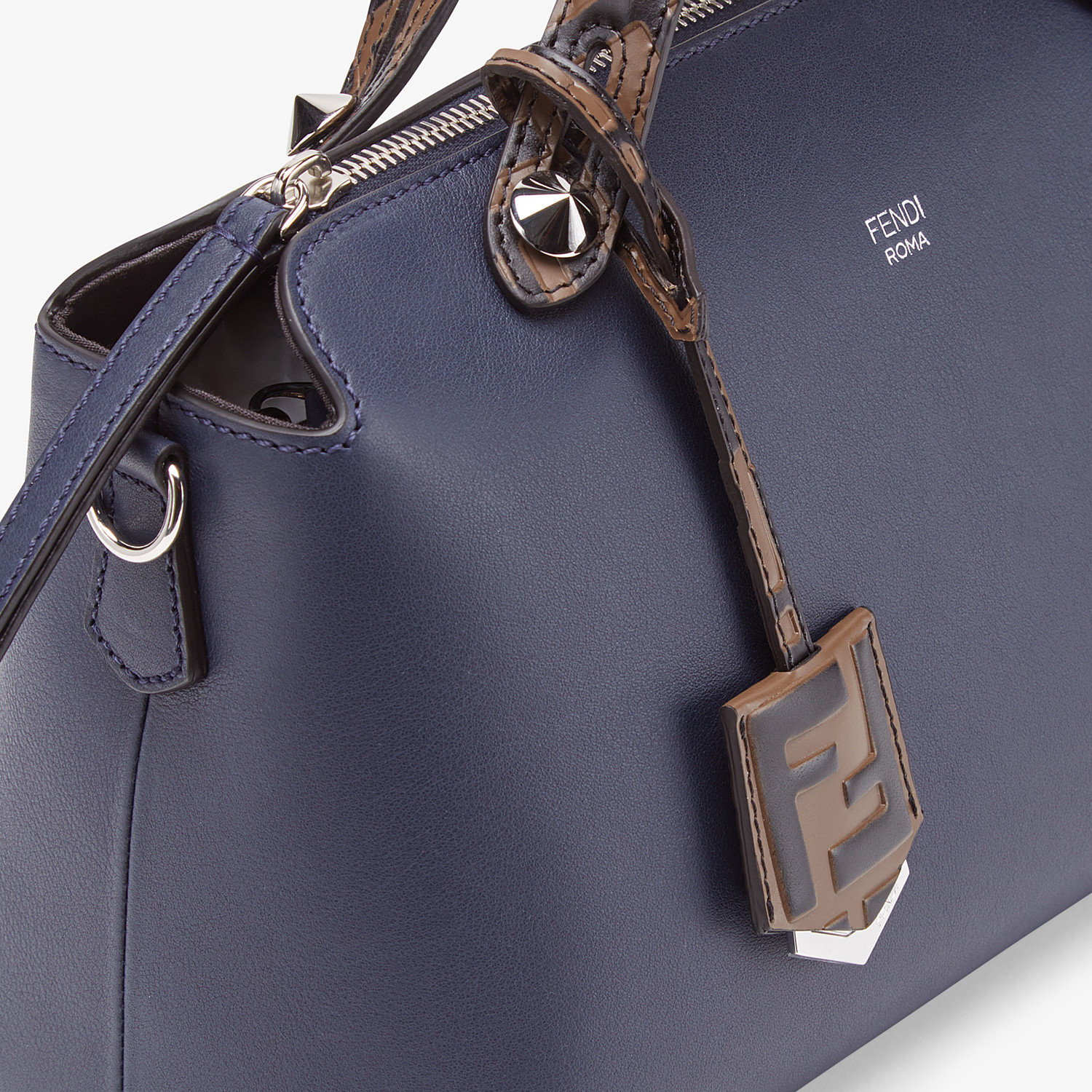 FENDI BY THE WAY MEDIA - Bauletto in pelle blu - vista 6 dettaglio