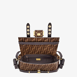 FENDI BAGUETTE CAGE - Tasche aus Stoff in Braun - view 6 thumbnail