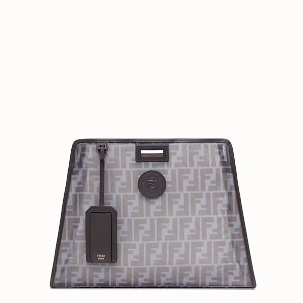 FENDI MEDIUM PEEKABOO DEFENDER - Light blue mesh Peekaboo cover - view 1 small thumbnail