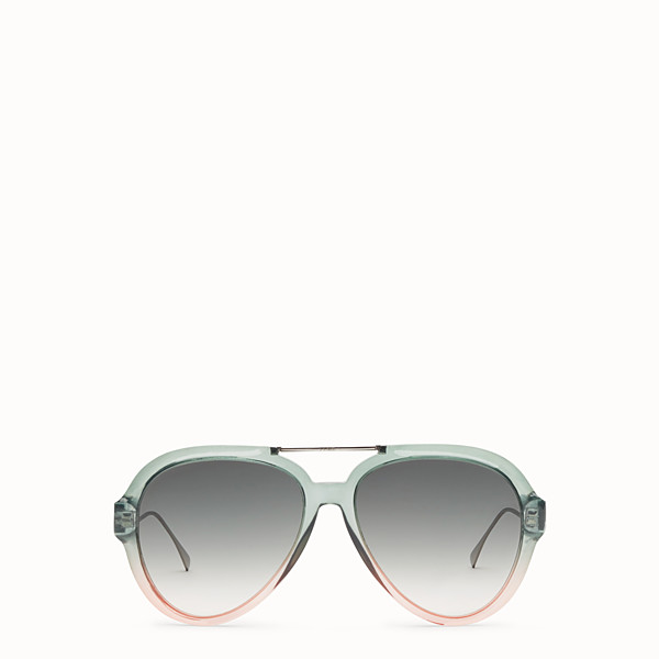 FENDI TROPICAL SHINE - Green and pink sunglasses - view 1 small thumbnail