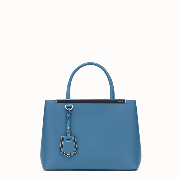 FENDI PETITE 2JOURS - Blue leather bag - view 1 small thumbnail