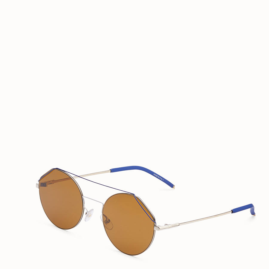 FENDI FENDIFIEND - Gold and blue sunglasses - view 2 detail