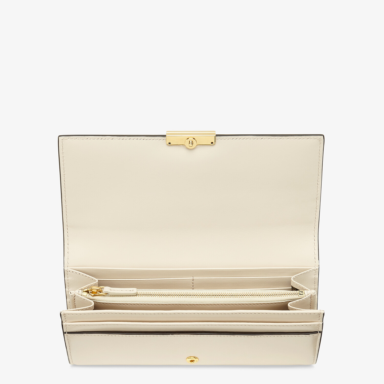 FENDI CONTINENTAL - White leather wallet - view 3 detail