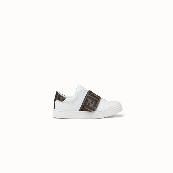 FENDI SNEAKERS - White leather first steps sneakers - view 1 small thumbnail
