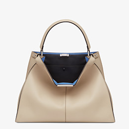 FENDI PEEKABOO X-LITE LARGE - Beige leather bag - view 2 thumbnail