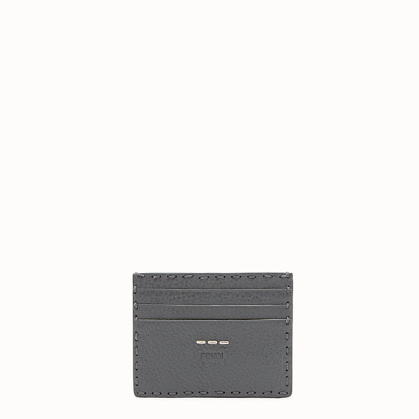 FENDI CARD HOLDER - Selleria 6-slot card holder in grey - view 1 small thumbnail