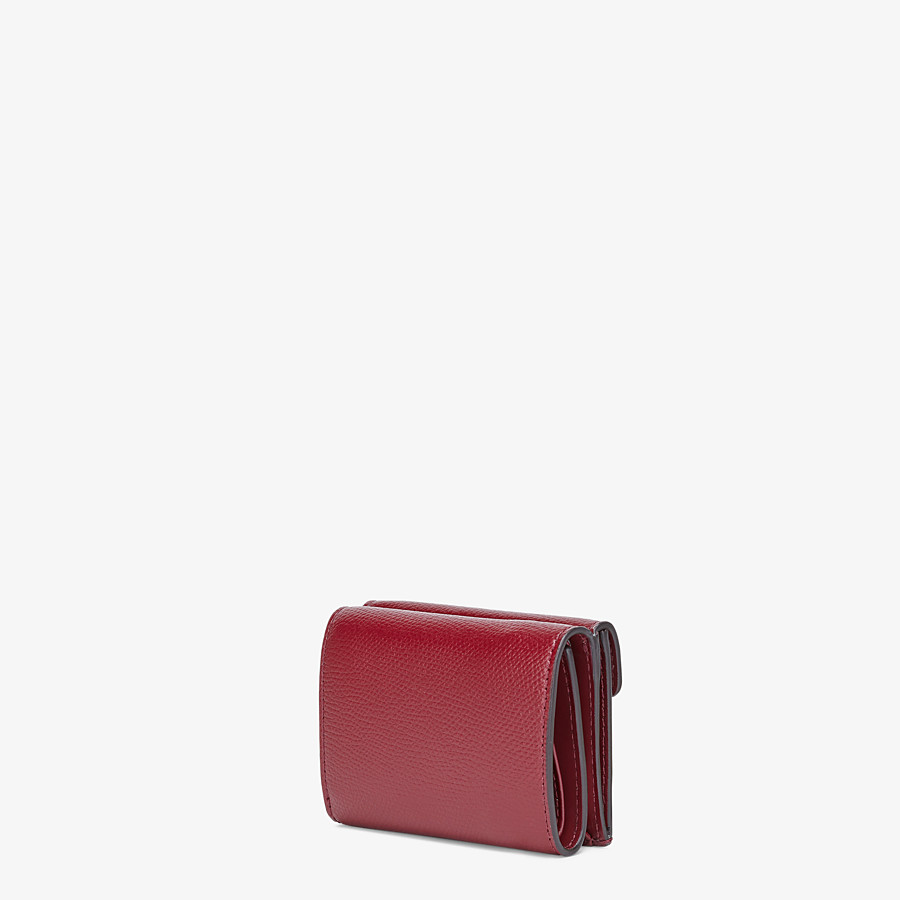 FENDI MICRO TRIFOLD - Burgundy leather wallet - view 2 detail