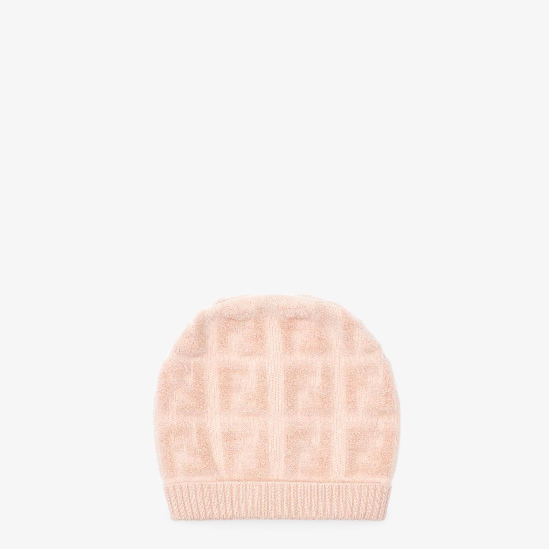FENDI HAT - Pink knit hat - view 1 detail