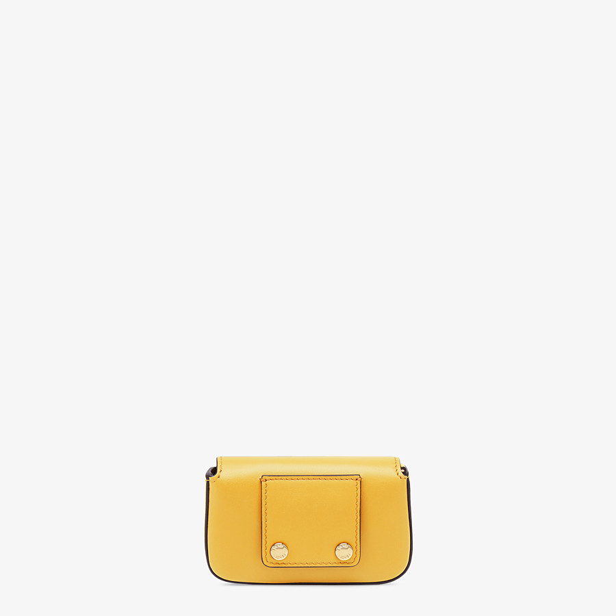 FENDI NANO BAGUETTE CHARM - Yellow leather charm - view 4 detail